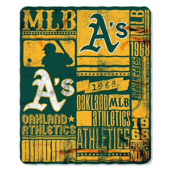 MLB 031 Athletics Strength Fleece Throw
