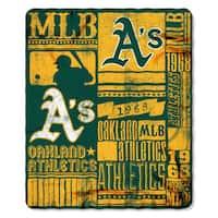 MLB 031 Athletics Strength Fleece Throw
