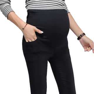 Adjustable Waist Convertible Maternity Leggings|https://ak1.ostkcdn.com/images/products/12069366/P18937382.jpg?impolicy=medium