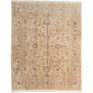 eCarpetGallery Ushak Yellow/Beige Cotton/Wool Hand-knotted Rug (7'8 x 9'7)