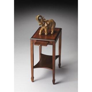 Butler Gilbert 4107101 Olive Ash Varnished Wood Vaneer Burl Side Table