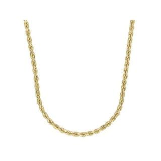 Simon Frank 2mm Elegant/ Dainty 14k Overlay Woven Rope Chain