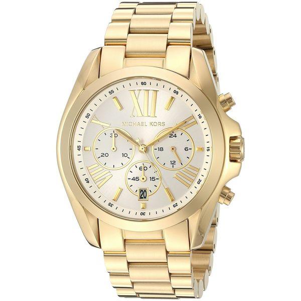 Michael Kors Women's 'Bradshaw' Chronograph Gold-tone Stainless Steel Watch