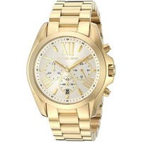 Michael Kors Women's MK6266 'Bradshaw' Chronograph Gold-tone Stainless Steel Watch