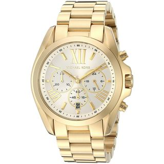 Michael Kors Women's 'Bradshaw' Chronograph Gold-tone Stainless Steel Watch