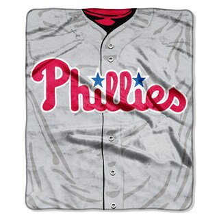 MLB 0705 Phillies Jersey Raschel Throw