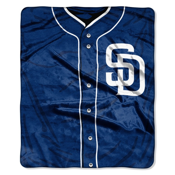 MLB 0705 Padres Jersey Raschel Throw