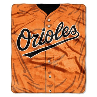 MLB 0705 Orioles Jersey Raschel Throw