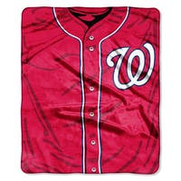 MLB 0705 Nationals Jersey Raschel Throw