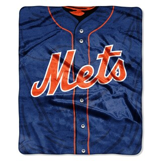 MLB 0705 Mets Jersey Raschel Throw