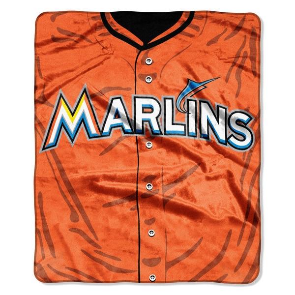 MLB 0705 Marlins Jersey Raschel Throw