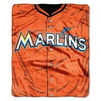 MLB 0705 Marlins Jersey Raschel Throw