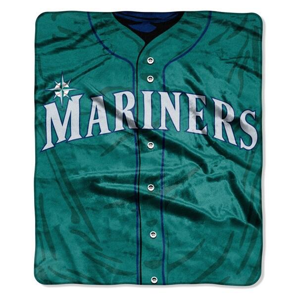 MLB 0705 Mariners Jersey Raschel Throw