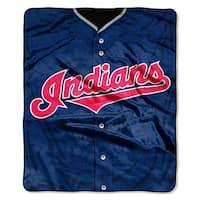 MLB 0705 Indians Jersey Raschel Throw