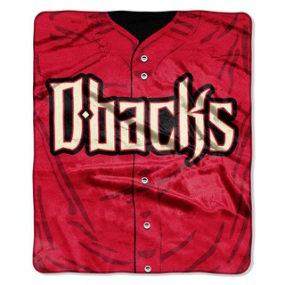 MLB 0705 Diamondbacks Jersey Raschel Throw