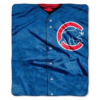 MLB 0705 Cubs Jersey Raschel Throw