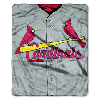 MLB 0705 Cardinals Jersey Raschel Throw