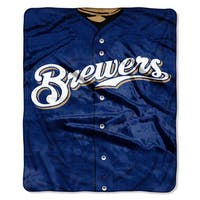 MLB 0705 Brewers Jersey Raschel Throw
