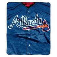 MLB 0705 Braves Jersey Raschel Throw