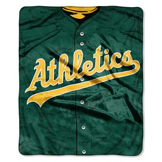 MLB 0705 Athletics Jersey Raschel Throw