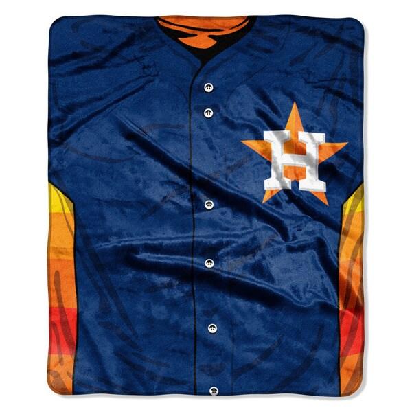 MLB 0705 Astros Jersey Raschel Throw