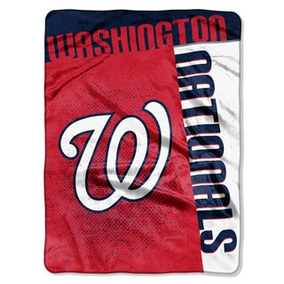 MLB 0802 Nationals Strike Raschel Throw