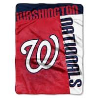 MLB 0802 Nationals Strike Raschel Throw