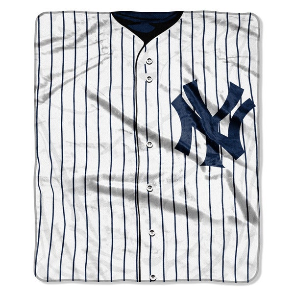 MLB 0705 Yankees Jersey Raschel Throw