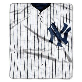 MLB 0705 Yankees Jersey Raschel Throw