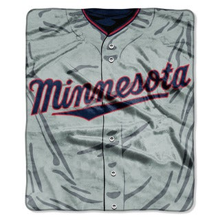 MLB 0705 Twins Jersey Raschel Throw