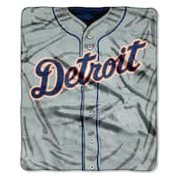 MLB 0705 Tigers Jersey Raschel Throw
