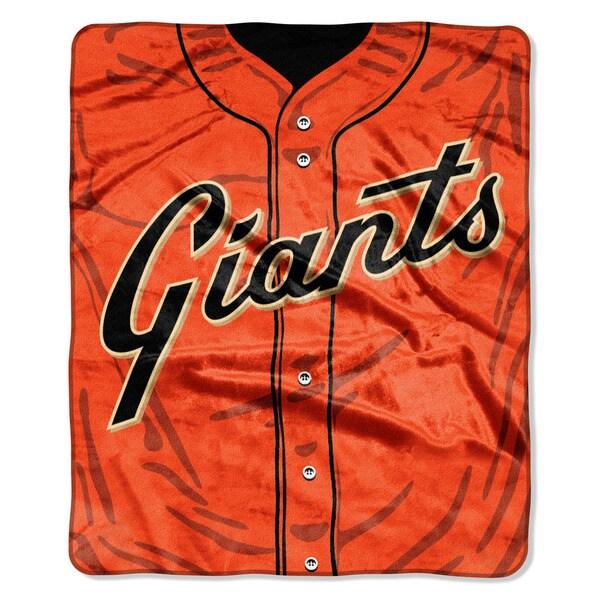 MLB 0705 SF Giants Jersey Raschel Throw