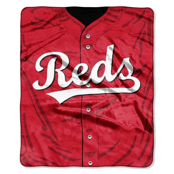 MLB 0705 Reds Jersey Raschel Throw
