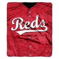 MLB 0705 Reds Jersey Raschel Throw