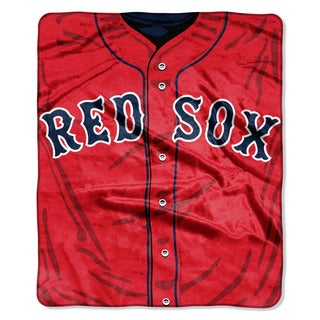 MLB 0705 Red Sox Jersey Raschel Throw