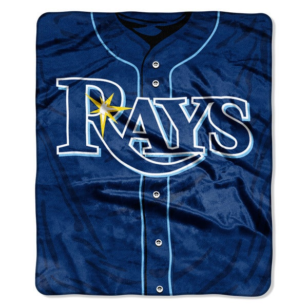 MLB 0705 Rays Jersey Raschel Throw