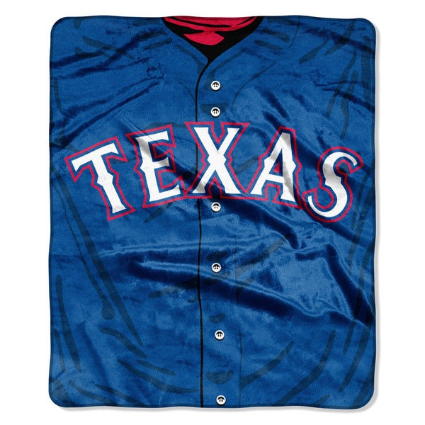 MLB 0705 Rangers Jersey Raschel Throw
