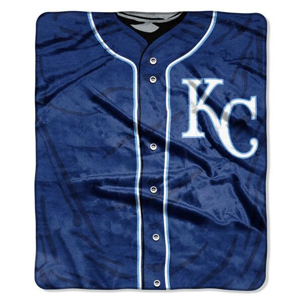 MLB 0705 Royals Jersey Raschel Throw