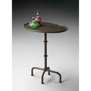 Butler Kira Silver Aluminum Pedestal Table