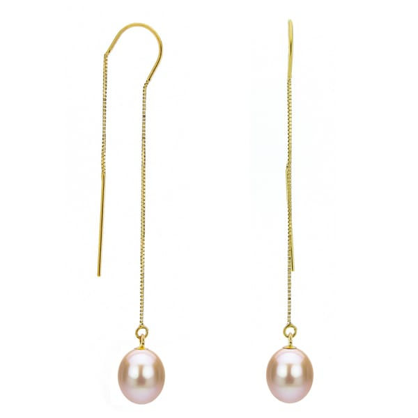 Shop Davonna 14k Yellow Gold 7 8mm Pink Cultured