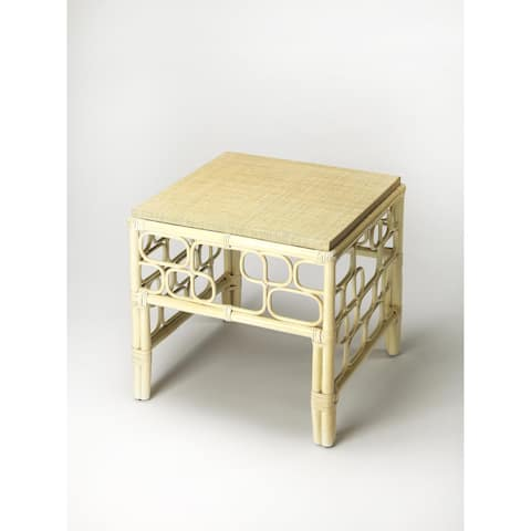 Handmade Butler Althea Beige MDF Rattan End Table (Philippines)
