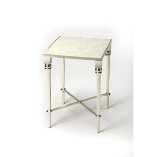 Butler Darrieux Silver Iron/Marble/Aluminum End Table