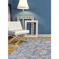 eCarpetGallery Paradise Blue/Brown Polypropylene/Viscose Rug