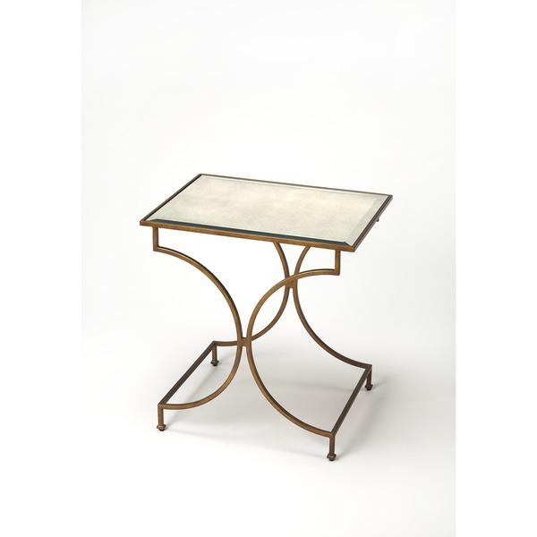 Handmade Butler Esperanza Antique Gold End Table China