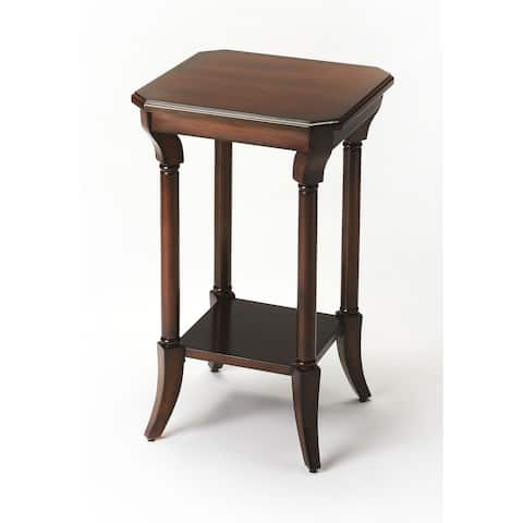 Butler Darla Traditional Plantation Cherry Square End Table - Dark Brown