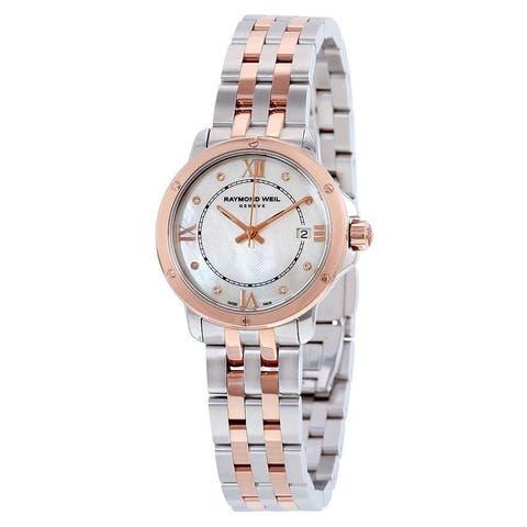 Raymond Weil Women's 5391-SB5-00995 'Tango' Diamond Two-Tone Stainless Steel Watch