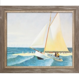Edward Hopper 'The Martha McKean of Wellfleet' Hand Painted Framed Canvas Art