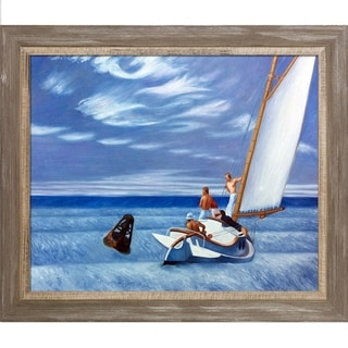 Edward Hopper 'Ground Swell' 1939 Hand Painted Framed Canvas Art
