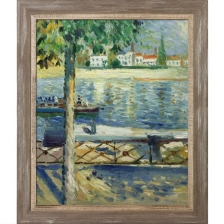 Edvard Munch 'The Seine at Saint-Cloud' 1890 Hand Painted Framed Canvas Art