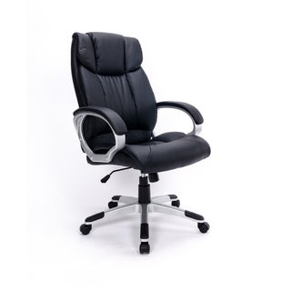 Faux Leather Adjustable Swivel Office Chair
